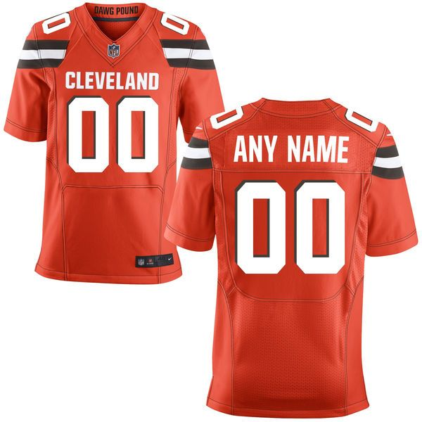 Mens Nike Cleveland Browns Orange Elite Jersey
