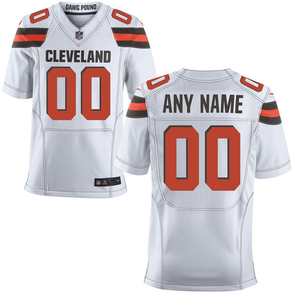 Mens Nike Cleveland Browns White Elite Jersey
