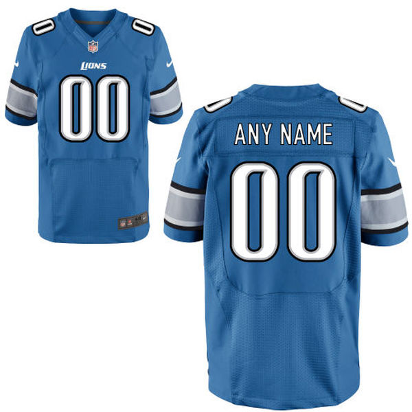 Mens Nike Detroit Lions Blue Elite Jersey