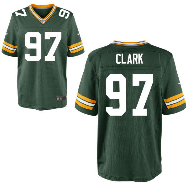 Mens Nfl Green Bay Packers #97 Kenny Clark Green Elite Jersey