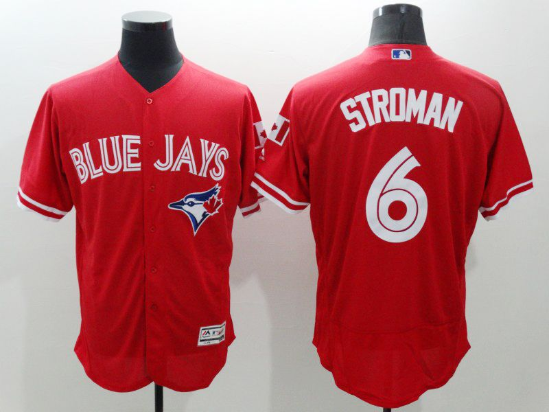mens majestic toronto blue jays #6 marcus stroman red Flex Base jersey