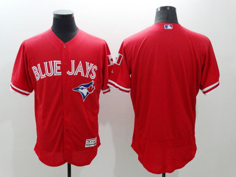 mens majestic toronto blue jays blank red Flex Base jersey