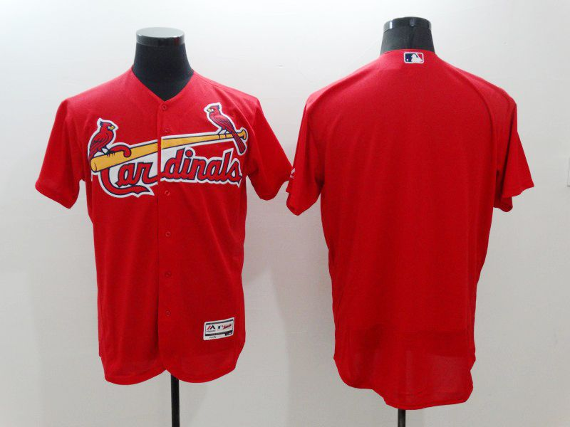 mens majestic st.louis cardinals blank red Flex Base jersey