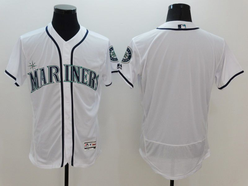 Mens Majestic Seattle Mariners Blank White Flexbase Collection Jersey