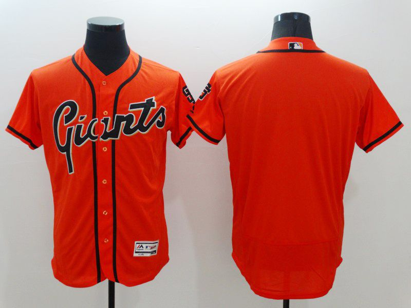 mens majestic san francisco giants blank orange Flex Base jersey