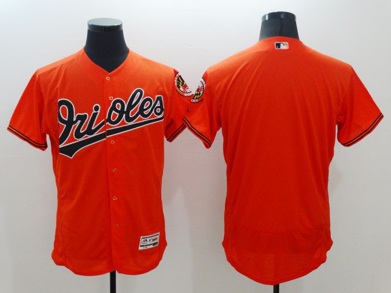 Mens Majestic Baltimore Orioles Blank Orange Flexbase Collection Jersey