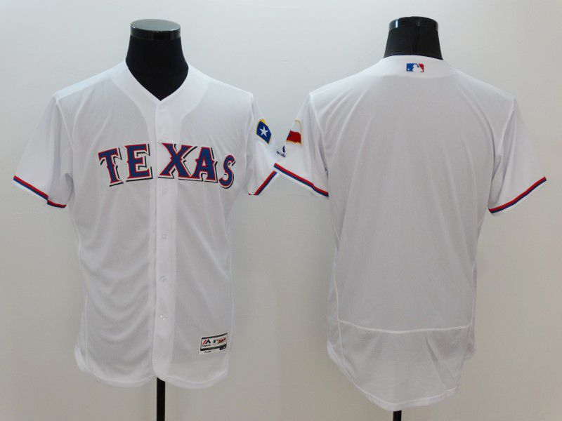 mens majestic texas rangers blank white Flex Base jersey