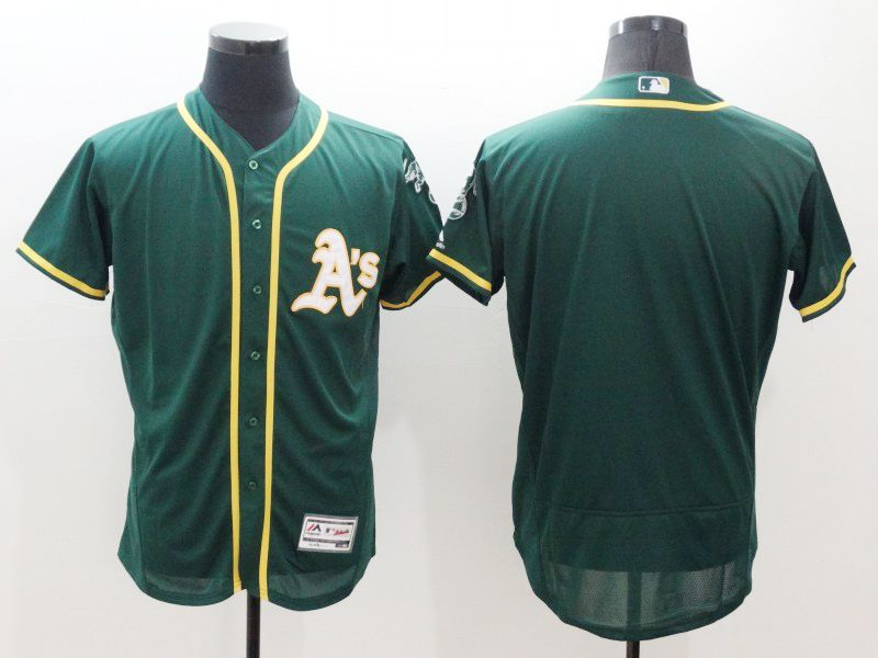mens majestic oakland athletics blank green Flex Base jersey