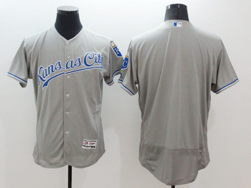 Mens Majestic Kansas City Royals Blank Gray Flexbase Collection Jersey