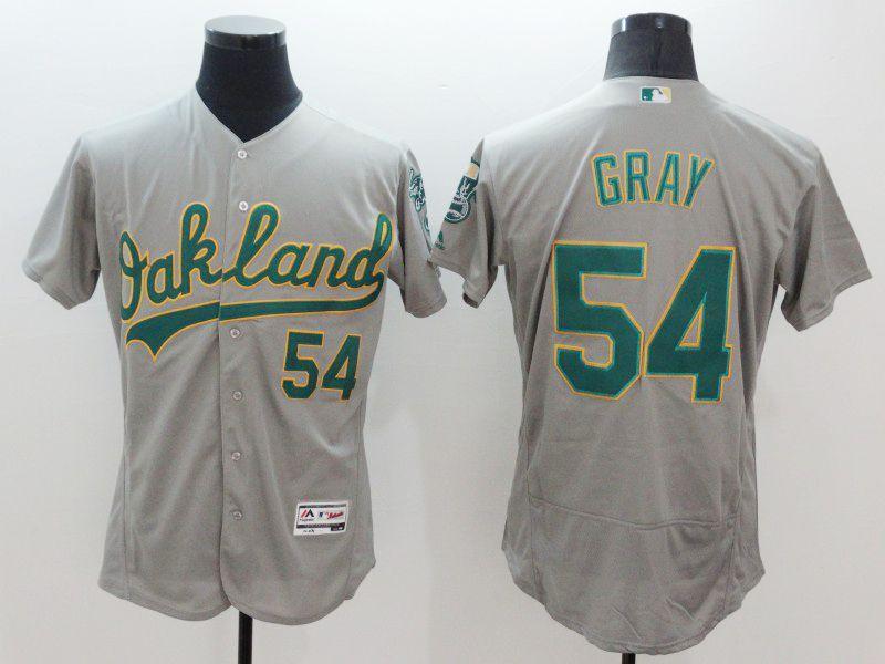 mens majestic oakland athletics #54 sonny gray gray Flex Base jersey