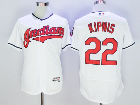Mens Majestic Cleveland Indians #22 Jason Kipnis White Flexbase Collection Jersey
