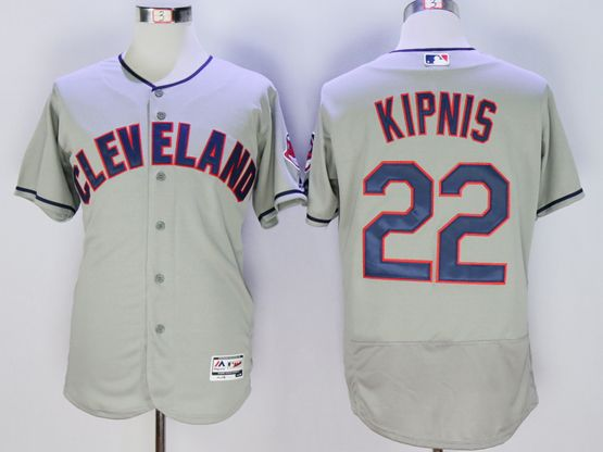 mens majestic cleveland indians #22 jason kipnis gray Flex Base jersey