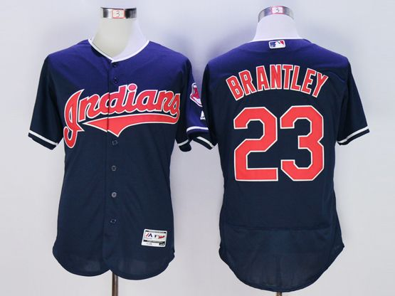 mens majestic cleveland indians #23 michael brantley navy blue Flex Base jersey