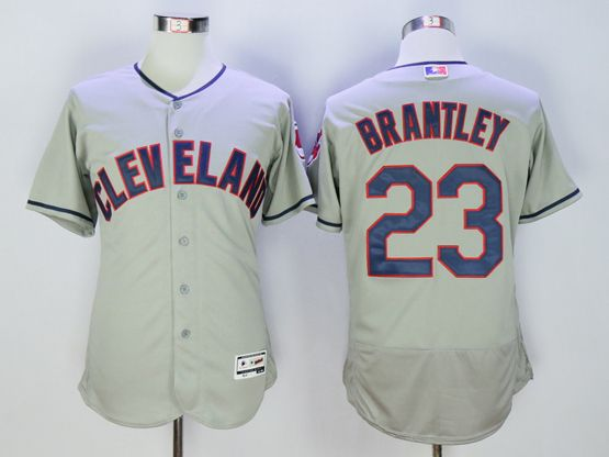 mens majestic cleveland indians #23 michael brantley gray Flex Base jersey