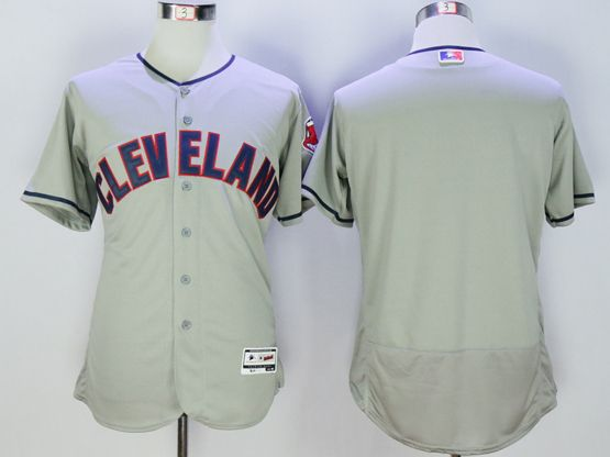 Mens Majestic Cleveland Indians Blank Gray Flexbase Collection Jersey
