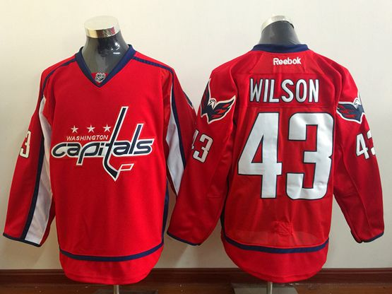 Mens Reebok Nhl Washington Capitals #43 Tom Wilson Red Home Premier Jersey