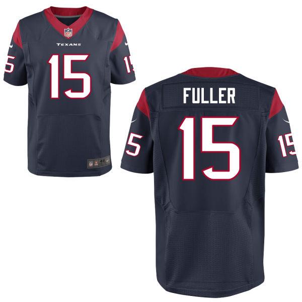 Mens Nfl Houston Texans #15 Will Fuller Blue Elite Jersey