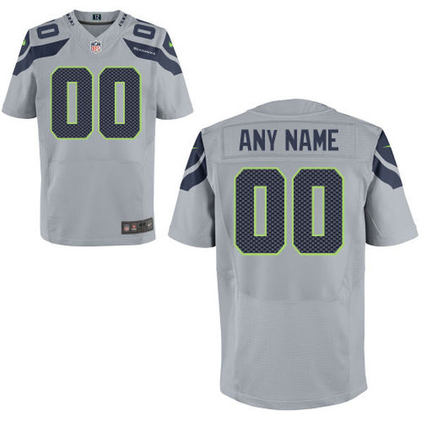 Mens Nike Seattle Seahawks Gray Elite Jersey