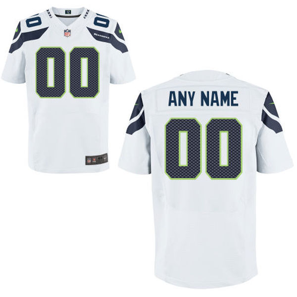 Mens Seattle Seahawks White Elite Jersey