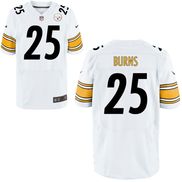 Mens Nfl Pittsburgh Steelers #25 Artie Burns White Elite Jersey