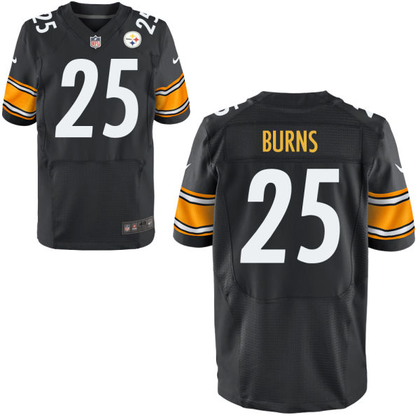 Mens Nfl Pittsburgh Steelers #25 Artie Burns Black Elite Jersey