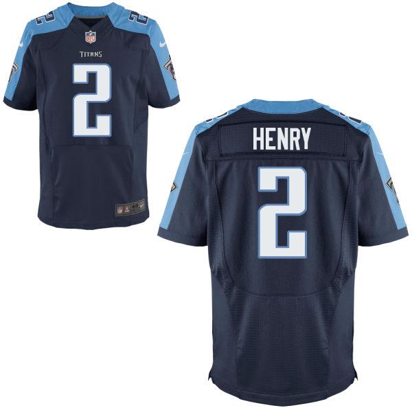 Mens Nfl Tennessee Titans #2 Derrick Henry Navy Blue Elite Jersey