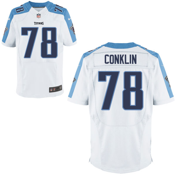 Mens Nfl Tennessee Titans #78 Jack Conklin White Elite Jersey
