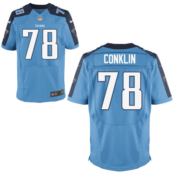 Mens Nfl Tennessee Titans #78 Jack Conklin Light Blue Elite Jersey