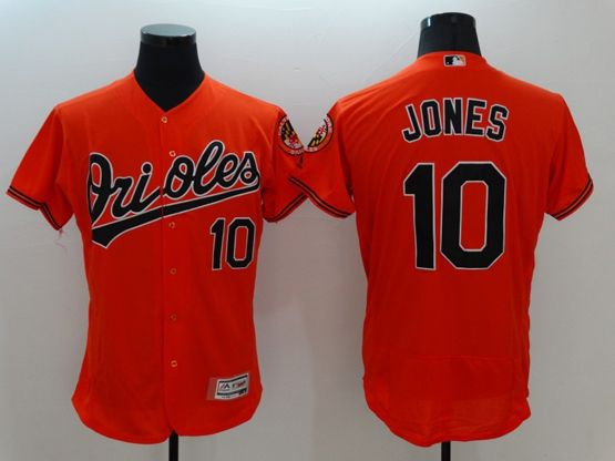 mens majestic baltimore orioles #10 adam jones orange Flex Base jersey