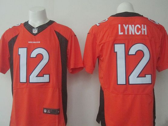 Mens Nfl Denver Broncos #12 Paxton Lynch Orange Elite Jersey