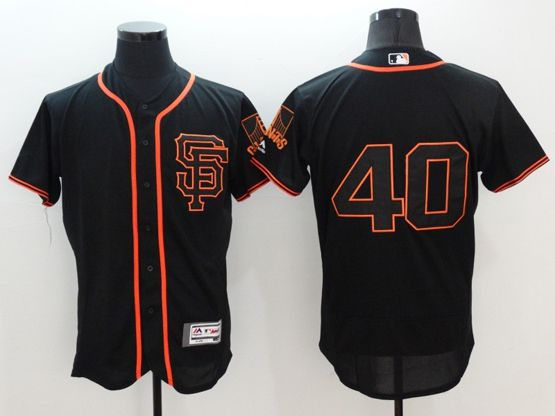 Mens Majestic San Francisco Giants #40 Madison Bumgarner Black Flexbase Collection Jersey