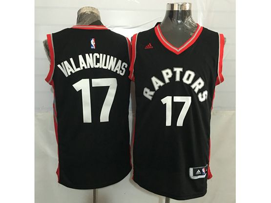 Mens Nba Toronto Raptors #17 Jonas Valanciunas Black&red Jersey