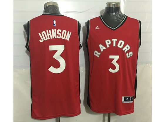 Mens Nba Toronto Raptors #3 James Johnson Red Jersey