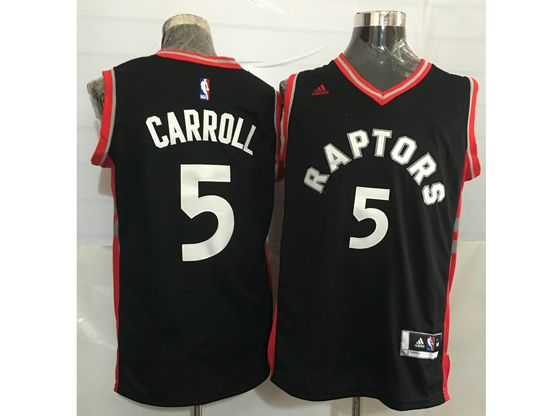 Mens Nba Toronto Raptors #5 Demarre Carroll Black&red Jersey