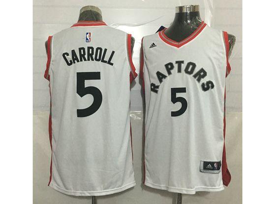 Mens Nba Toronto Raptors #5 Demarre Carroll White Jersey