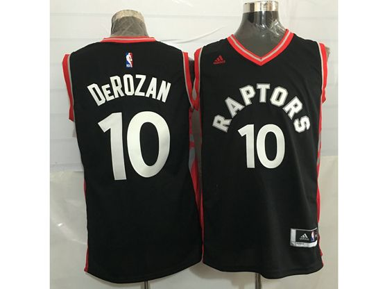 Mens Nba Toronto Raptors #10 Demar Derozan Black&red Jersey