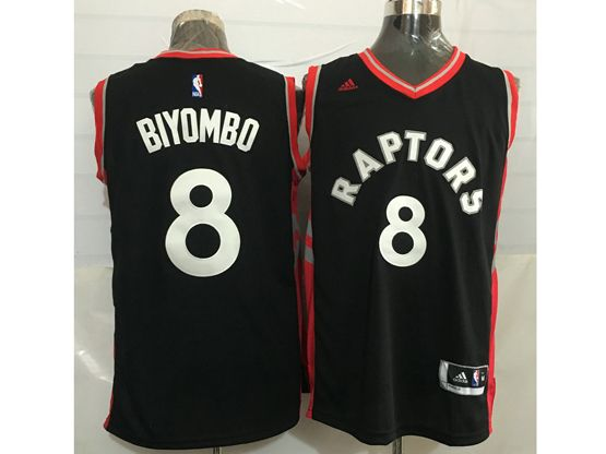 Mens Nba Toronto Raptors #8 Bismack Biyombo Black&red Jersey