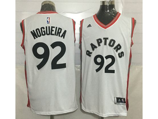Mens Nba Toronto Raptors #92 Lucas Nogueira White Jersey