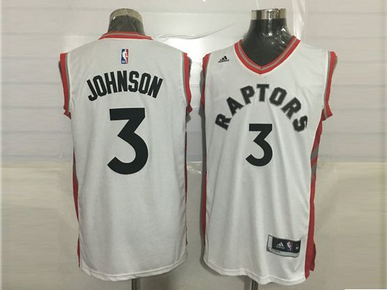 Mens Nba Toronto Raptors #3 James Johnson White Jersey