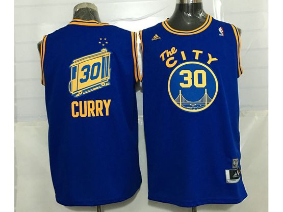 Mens Adidas Golden State Warriors #30 Stephen Curry Blue Hardwood Classics Swingman Jersey