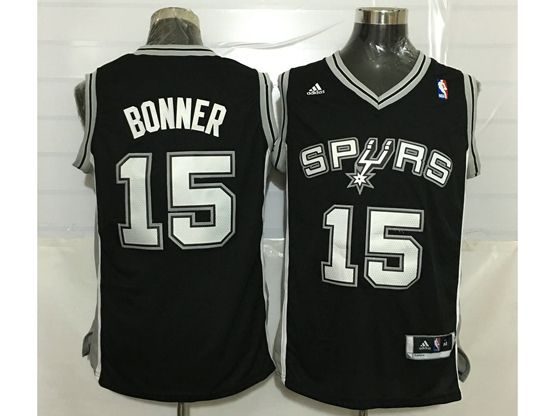 Mens Nba San Antonio Spurs #15 Matt Bonner Black Jersey