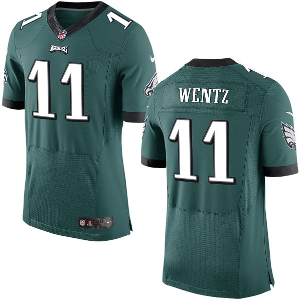 Mens Nfl Philadelphia Eagles #11 Carson Wentz Green Elite Jersey