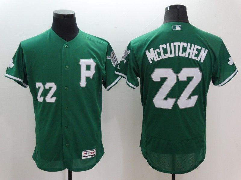Mens Majestic Pittsburgh Pirates #22 Andrew Mccutchen Green Flexbase Collection Jersey