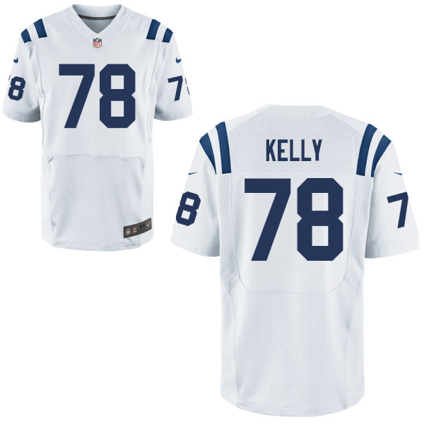 Mens Nfl Indianapolis Colts #78 Ryan Kelly White Elite Jersey