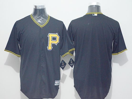 Mens Majestic Pittsburgh Pirates Blank Black  Jersey