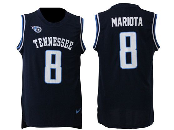 Mens Nfl Tennessee Titans #8 Marcus Mariota Blue Tank Top Jersey