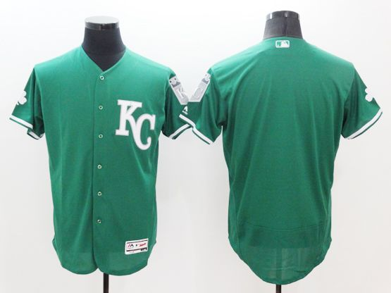 mens majestic kansas city royals blank green Flex Base jersey
