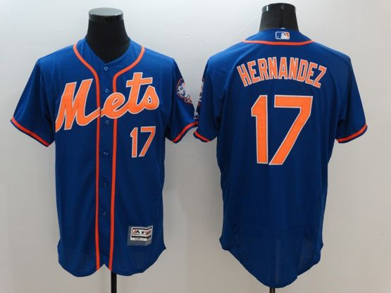 Mens Majestic New York Mets #17 Keith Hernandez Blue Flexbase Collection Jersey