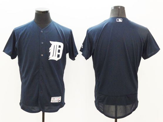 mens majestic detroit tigers blank dark blue Flex Base jersey