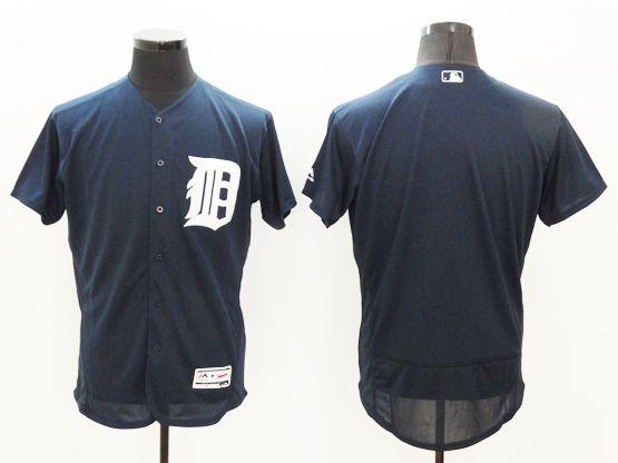 Mens Majestic Detroit Tigers Blank Dark Blue Flexbase Collection Jersey